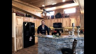 Two Bedroom Two Bath Log Cabin RRC853 #MultisectionMonday