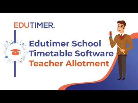 School Timetable Software ( Teacher Allotment )