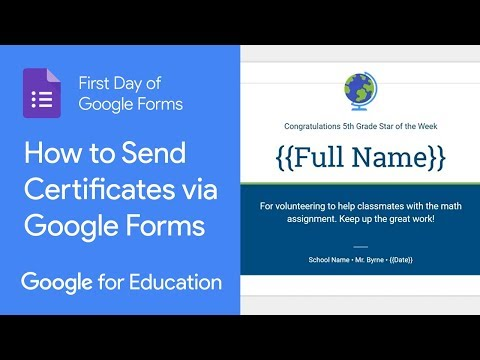 How to Send Certificates via Google Forms (First Day of Google ...