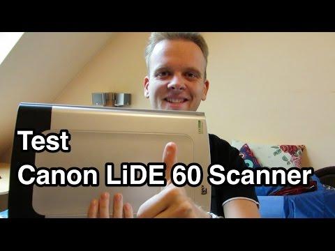 Test Canon LiDE Scanner   Flachbettscanner Test   Scanner Test