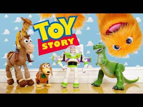Toy Story In Real Life! 🚀 Disney Toys Playset 🎈 Toy Story 2 3 4 Ending 🤠 Live Action Toy Story