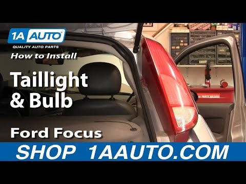 How To Replace Taillight & Bulbs 00-04 Ford Focus