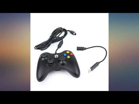 2 Pack Replacement Dongle USB Breakaway Cable for Xbox 360 Wired Controllers - Dark Grey r