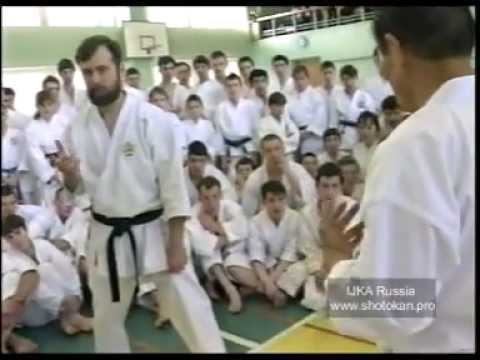 Asai Tetsihiko 9 Dan JKA chief-instructor in Moscow
