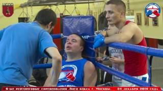 6-ые рейтинговые бои Лига бокса г. Москвы  – 24.12.16 г. до 91+ кг.