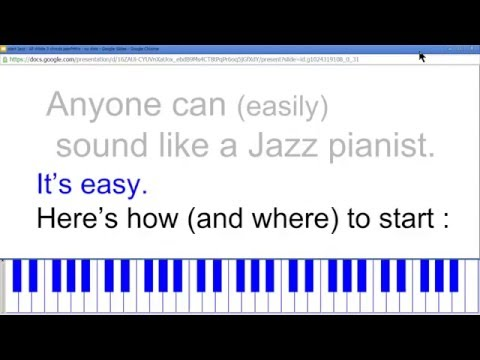 This is for a beginner to the piano keyboard sound sophisticated, quickly! Follow-along!