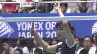 F - WS - Eriko Hirose vs Tai Tzu Ying - 2012 Yonex Open Japan