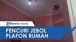 Penampakan Plafon Rumah Korban Sriwijaya Air yang Dijebol Maling, Tabung Gas hingga Galon Raib