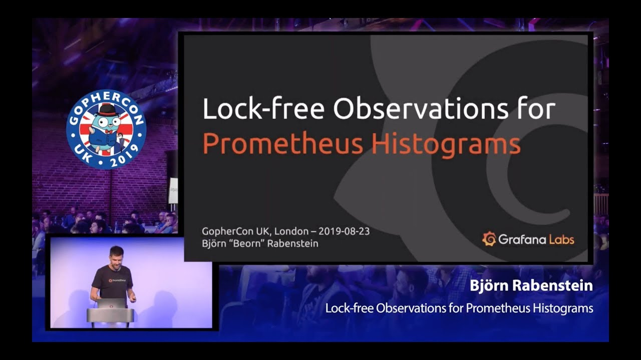 Lock-free Observations for Prometheus Histograms