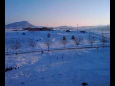 20100308 - Gran Nevada en Vilanova del Camí - Este pueblo parece estar en medio de los Pirineos