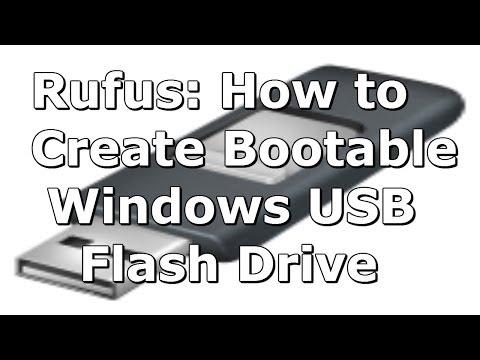 (Rufus) How to Create a Windows 8 (8.1) Bootable USB Flash Drive