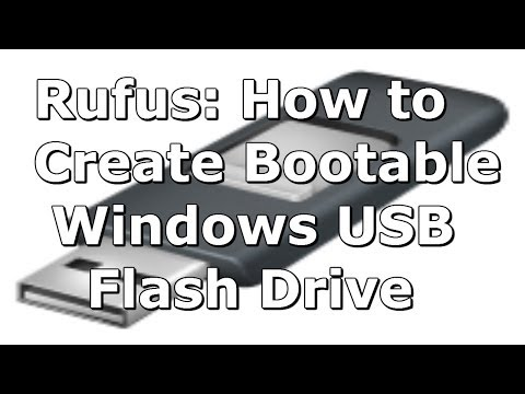 Video (Rufus) How to Create a Windows 8 (8.1) Bootable USB Flash Drive