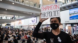video: Hong Kong airport cancels flights as Carrie Lam warns of 'path of no return'