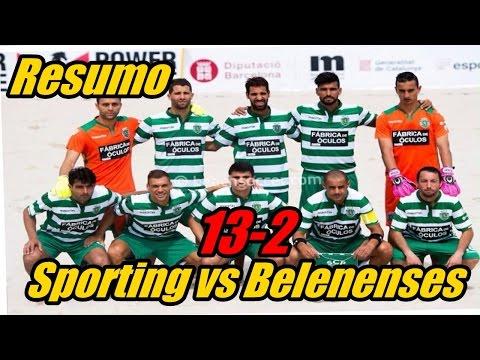 VIDEO: Sporting vs Belenenses 13-2 - Resumo Todos os Golos | Futebol praia (15/08/2015)
