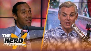 T.J. Houshmandzadeh discusses Antonio Brown's trade value, Kyler Murray in the NFL | NFL | THE HERD