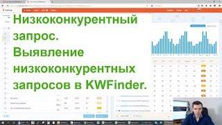 Низкоконкурентный запрос. Выявление низкоконкурентных запросов в KWFinder