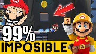 Cuando un Japones Pillo Crea un 99% 😡- NIVELES 99% IMPOSIBLES #59 | Super Mario Maker