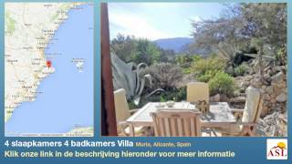 preview picture of video '4 slaapkamers 4 badkamers Villa te Koop in Murla, Alicante, Spain'