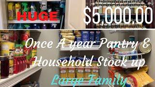 A Years Worth Of Food  | Pantry, Freezer And Household Stock Up