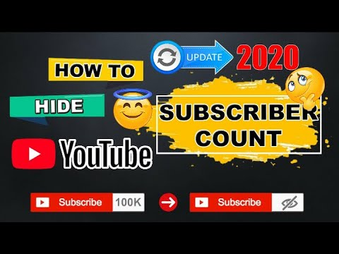 HOW TO HIDE SUBSCRIBERS COUNTS ON MY YOUTUBE CHANNEL