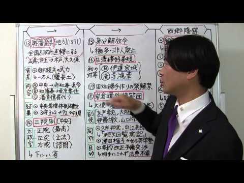 竹内の日本史 戦略図解ボード #048 中央集権体制