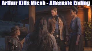 RDR2 Arthur beats Micah & Survives (Fan Made Ending) - Red Dead Redemption 2 PS4 Pro