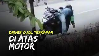 Cerita di Balik Viral Video Driver Ojol Terkapar di Atas Motor, Warga Tak Ada yang Berani Mendekat