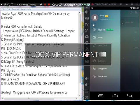 Video Tutorial JOOX VIP Selamanya WORK 100%