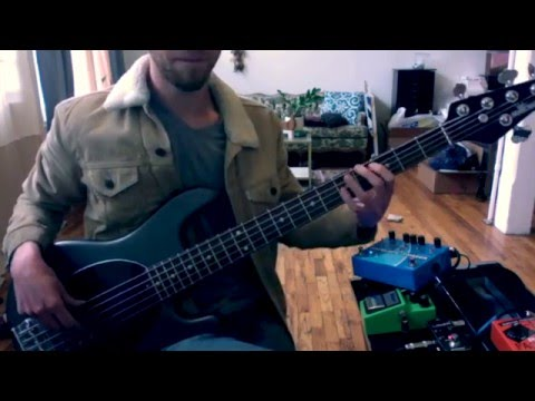 Me messing with a envelope filter on guitar and bass.