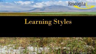 Rescogita Video Tutorial – Learning Styles