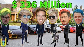 TOP 10 RICHEST YouTubers in the world | PewDiePie, DanTDM, DudePerfect, Markiplier, Jacksepticeye