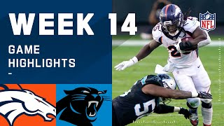 Broncos vs. Panthers Week 14 Highlights | NFL 2020