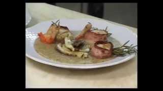 preview picture of video 'Trattoria La Curt: Ricetta Capesante Con Porcini'