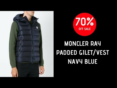 Moncler RAY Padded Gilet Vest Jacket UNBOXING REVIEW Navy (SALE!)