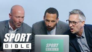 England Legends Rio Ferdinand, Alan Shearer & Gary Lineker Rate Your Football Skills