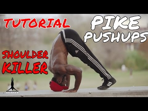 Pike Push Up Tutorial | Learning the Handstand Pushup