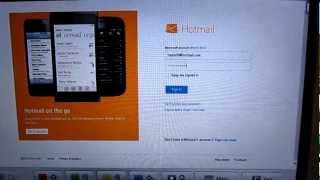 hotmail login problem