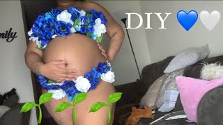 DIY MATERNITY OUTFIT | AT HOME FASHION 💙