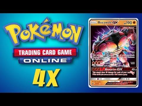 Buzzwole GX / Lycanroc GX – 4x Pokemon TCG Online Game Play