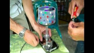 งานประดิษฐ์โคมไฟตั้งโต๊ะ