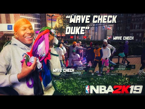 The First ever WAVE CHECK on NBA 2K19! So many Durags! Best Build 2k19! Stretch Big Demigod 2k19!