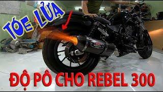 Độ Pô YOSHIMURA Cho Rebel 300 của KST với Tài Pô Độ