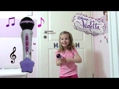 Disney VIOLETTA elektronisches Mikrofon mit Songs aus der TV Serie ♫ Smoby Toys