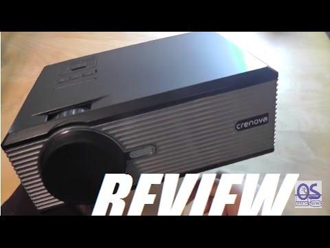 """REVIEW: Crenova XPE470 HD 130"""" Mini LED Projector"""