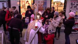 preview picture of video 'Nikolo & Krampus waren in Ober St. Veit'