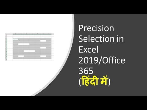 Precision Selection in Excel 2019 or Office 365 (हिंदी में)