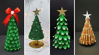 4 Easy DIY Christmas Tree Ideas   Best Out of Waste   DIY Christmas Decorations