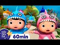 Baby Shark Dance | 60 min LBB Kids Songs | ABC's Baby Nursery Rhymes - Sing with Little Baby Bum