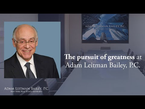 The Pursuit of Greatness at Adam Leitman Bailey, P.C. testimonial video thumbnail