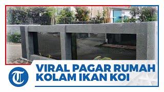 Viral di Medsos, Pria di Malang Buat Pagar Rumah dari Kolam Ikan Koi dan Sebut Biayanya Rp50 Juta